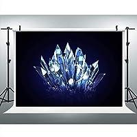 写真用の新しい光沢のあるクリスタルの背景9x6FT宝石の背景YouTubeをテーマにしたパーティーバナーProps103