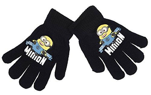 Handschuhe Kinder Jungen Die Minions 3Farben Einheitsgröße (3/8ans) schwarz schwarz einheitsgröße