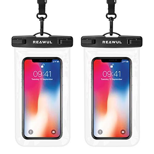 REAWUL wasserdichte Handyhülle 2-Pack, IPX8 Unterwasser Beutel für iPhone 12 11 XS Max XR X 8 7 Plus, Samsung S20+ S10 S9, Huawei P40 Pro, P30 Pro, Mate 30 Pro, bis zu 6,9