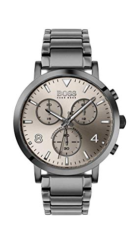 Hugo Boss Herren Chronograph Quarz Uhr mit Edelstahl Armband 1513695