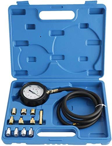 FreeTec 13 Piezas Probador de presión de Aceite de Motor, medidor de presión de Aceite, Herramienta de comprobación 0 – 35 Bar