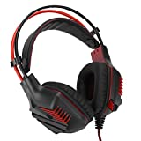 Tomanbery Headset Household Gaming Earphone Durable Black Red Head‑Mounted Practical for Laptop