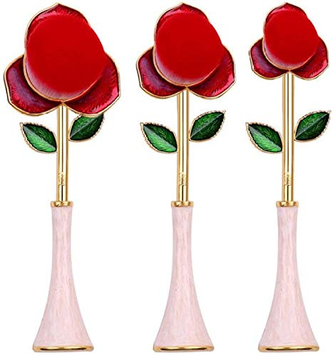 3pcs Maquillage Rose Brosses cosmétiques Pinceaux peigne for Teint Poudre Fards Correcteurs Kit Ombres à paupières BTZHY