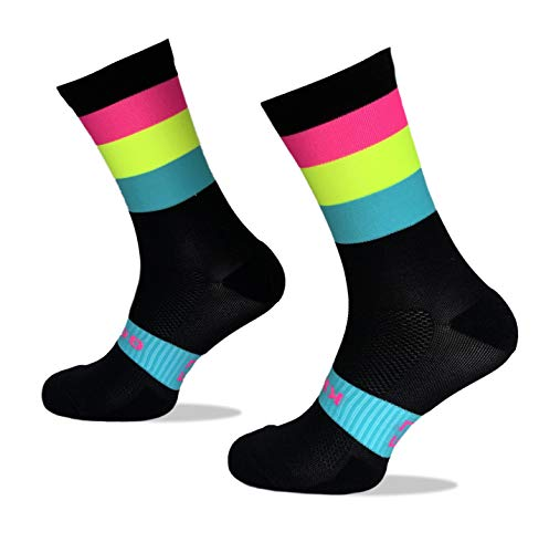 Calcetines Deportivos Técnicos Compresivos, diseñados para el Alto Rendimiento en la Práctica Deportiva de Running, Ciclismo, CrossFit, Gimnasio.Coolmax,Termorregulador y antibacteriano. 🔥