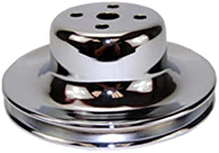 Pirate Mfg 1965-66 SBF 289 Chrome Steel Single Groove Water Pump Pulley, Compatible with/Replacement for Ford Small Blocks