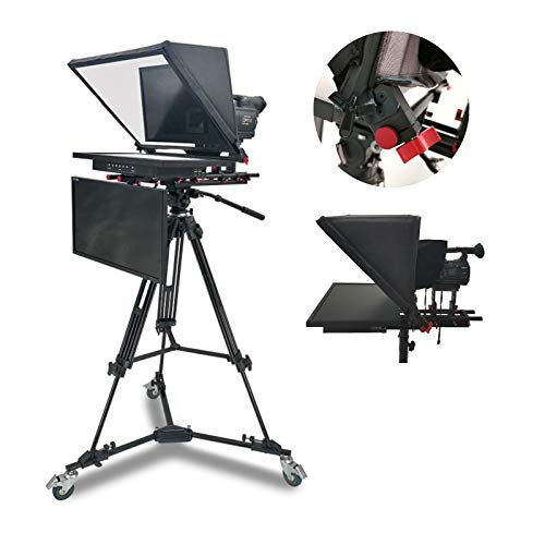 MEILINL 21' Teleprompter Kit for Ipad & Tablet with Built-In Embedded Host A High-Definition Screen Boot Speed Is Fast for Radio And Television Stations Schools Enterprise,dual screen