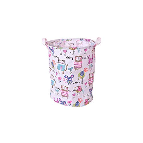 ZZXGG Storage Bucket Cotton and Linen Thickened Dirty Clothes Basket