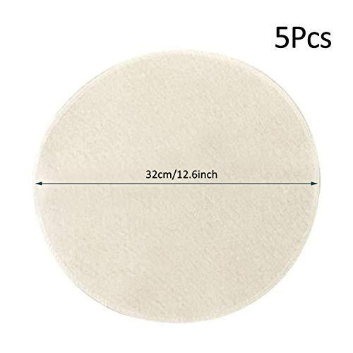 Lespar 5er-Pack (32 cm) Bambusdämpfer Matte, Dampfgaze, wiederverwendbar, natürlicher Reiner Baumwollstoff für den Dampfgarer, Knödel-Stoff,für Einfrieren, Dämpfen und Kochen