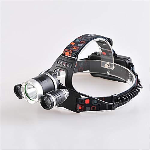 FGKING 3 Modes Super Bright LED projecteur, Lampe de Poche étanche avec la lumière de Travail Rotatif, Feux de la tête pour Le Camping, la randonnée, à l'extérieur, Cadeaux de Noël