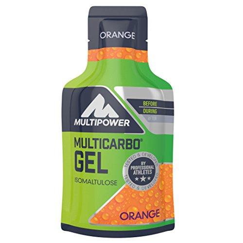 Multipower Endurance Multi Carbo Energy Gel im 12er Pack (12 x 40 ml) – Sportgel für eine schnelle und dauerhafte Energieversorgung – hochwertiger Kohlenhydratmix zur Leistungssteigerung – Orange