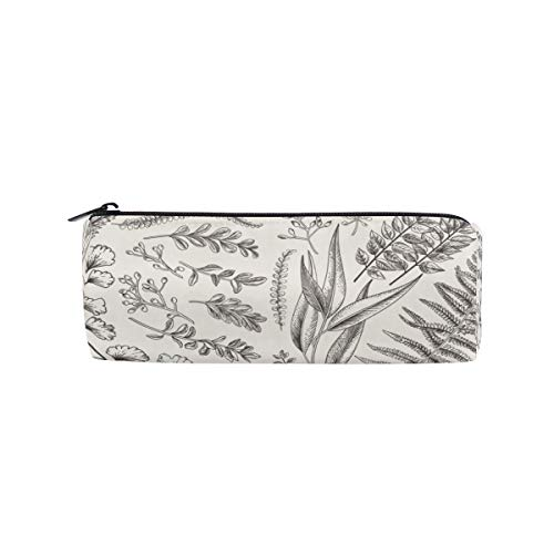 Shiiny Fern Eucalyptus Boxwood Pencil Cases Pouch Bag with Zipper,Small Simple Pencil Pouches, Makeup Pouch, Cosmetic Pouch