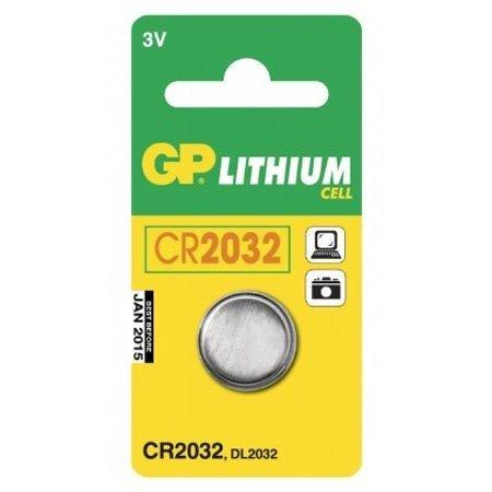 GP Batterien CR2032, C1 Knopfzelle (Lithium kardiert) 1 Stück