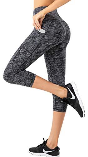 LifeSky - Pantalones de yoga para mujer, cintura alta, control de barriga con bolsillos, 4 vías de estiramiento -  -  Small