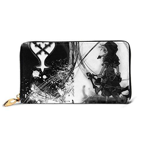 Leder Clutch Kingdom Hearts Geldbörse Reißverschluss Frauen Mode Wristlet Geldbörsen Tasche Telefon Kredit Multi Card Holder Organizer Geldbörsen