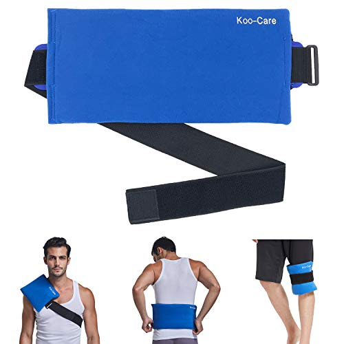 Lowest Prices! Koo-Care Large Gel Ice Pack & Wrap with Long Strap Hot Cold Therapy Pack for Shoulder...