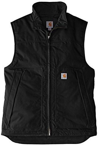 Carhartt Men's Quick Duck Jefferson Vest,Black,Medium