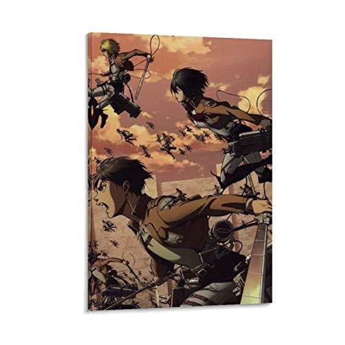 Megiri Ataque en Titan-,Wings-of-Liberty-Cartoons-Anime-(5) Lienzo decorativo para pared interior 20 x 30 cm, decoración del hogar estirada galería lienzo lienzo enmarcado