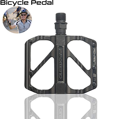 """Sugelary Fahrradpedale, Universelle Mountainbike Fahrrad Pedalen rutschfeste und leichte Standard-Aluminiumlegierung DU-Spindel 9/16 """"Fahrradpedale, Arbeitssparendes Straßenradpedal Fahrradzubehör"""