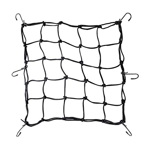 SunFounder Super Strong Stretch HeavyDuty 15quot Cargo Net for Motorcycle ATV  Stretches to 45quot with Iron Hooks