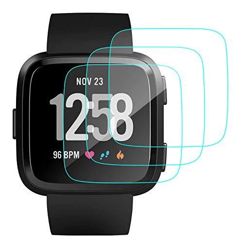 CAVN Pellicola Protettiva Compatibile con Fitbit Versa /Versa Lite Schermo [3 Pezzi], in Vetro temperato Protegge Lo Schermo per Versa /Versa Lite Smart Watch, AntiGraffio, Anti-Bolle
