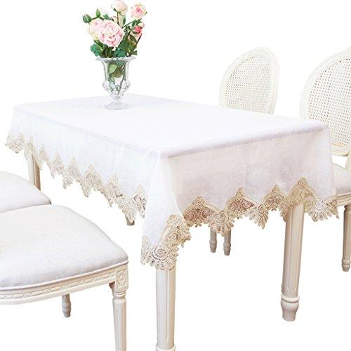 RenShiMinShop Eenvoudige moderne effen kleur kant tafelkleden, stijlvolle salontafel TV kast tafel sets