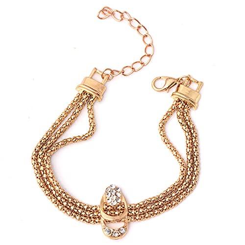 Newdvmmss 4 Piezas de Collar de Diamante Retro de Diamante Anillo de Orejas Pulsera de Anillo Joyería Fiesta Regalo de cumpleaños