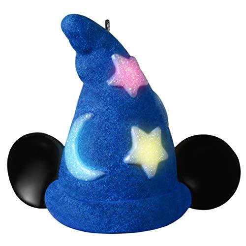 Hallmark Keepsake Christmas Ornament 2019 Year Dated Disney Fantasia The Sorcerer's Apprentice Mickey's Wizard Hat with Light