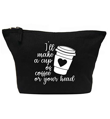 Flox Trousse de maquillage créative pour faire une tasse de café pour votre tête