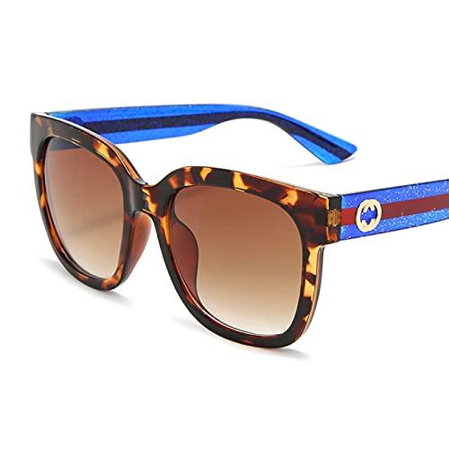 Alexny Gafas de Sol, Gafas de Sol extragrandes, Gafas Multicolor de Moda Negro Oscuro, Gafas de Sol cuadradas