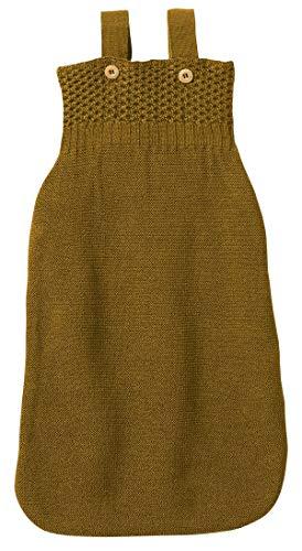 Disana Baby Strick Schlafsack aus Bio-Merinoschurwolle (01 = 65 cm, Gold)