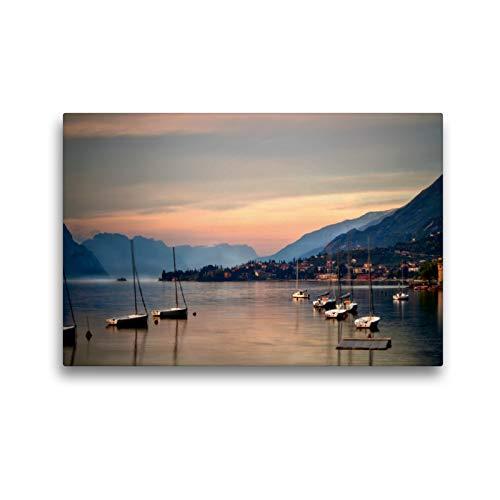 Premium Textil-Leinwand 45 x 30 cm Quer-Format Limone - Gardasee | Wandbild, HD-Bild auf Keilrahmen, Fertigbild auf hochwertigem Vlies, Leinwanddruck von TJPhotography (Thorsten Jung)
