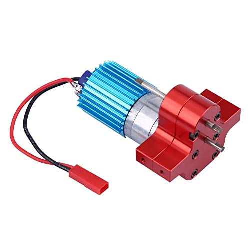 Dilwe RC-Getriebe, Metallgetriebe-Drehzahländerung mit 370-Bürstenmotor für WPL 1633 RC-Auto( Rot)