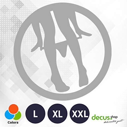 Decus Panty Dropper // sticker OEM JDM Style sticker zilver