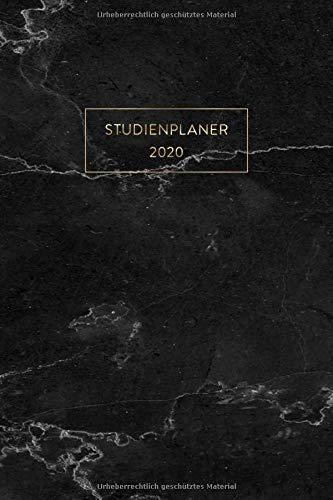 Studienplaner 2020: Semesterplaner, Studentenkalender für das Sommersemester 2020 (April - September) im modernen Marmor Design | ca. DIN A5 (6x9\'\'), ... Kalender und Planer für Studenten und Schüler