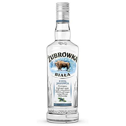 Żubrówka Weiß Wacholder   Polnische Wodka-Besonderheit   0,5 Liter, 37,5% Alkoholgehalt