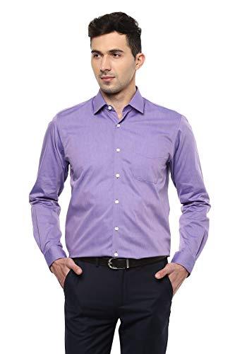Peter England Men's Solid Regular Fit Formal Shirt (ISF1101700198540_Lightpurplesolid)