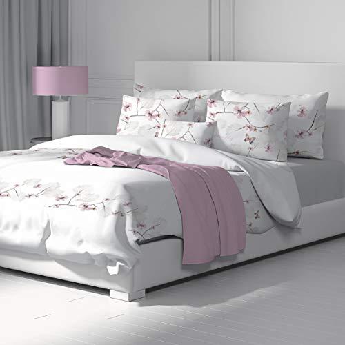 SoulBedroom Schmetterling Bettbezug 155x220 cm und Kissenbezug 80x80 cm 100prozent Baumwolle mit versteckten Reißverschluss