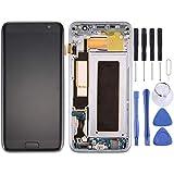 FENSHIX para Galaxy S7 Edge / G9350 Pantalla LCD y digitalizador Conjunto Completo con Marco y Carga de Puerto y botón de Volumen y botón de Encendido Sostituzione (Color : Black)