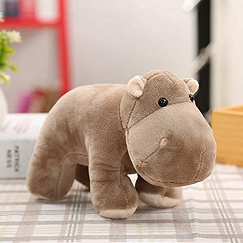 DINEGG Niños Juguetes de Peluche 25 * 20cm simulación hipopótamo Peluche Juguetes Animales muñecas YMMSTORY