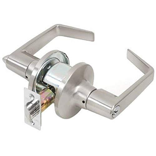 Tell Manufacturing CL100201 Levier d'entrée commercial ultraléger Finition satinée