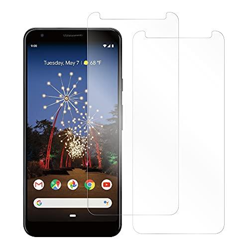 [2枚入り] LOOF Google Pixel 3a XL 用 保護フィルム 簡単貼り付け 画面保護 ソフトフィルム 気泡なし 傷防止 割れ防止 フィルム サラサラ 手触り 耐衝撃 衝撃吸収 高感度 ゲーム ゲーマー向け 反射防止 指紋防止 汚れ防止 保