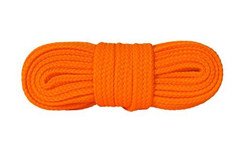 Kaps Schnürsenkel Turnschuhe & Freizeitschuhe, hochwertig, strapazierfähig, hergestellt in Europa, 1 Paar (120cm – 7 bis 9 Schnürösenpaare/orange fluorescent)