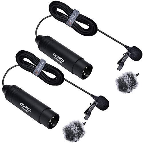 COMICA CVM-V02O XLR Micrófono lavalier omnidireccional para Canon Sony Nikon Panasonic