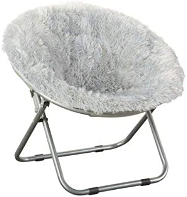 Amazon Com Fluffy Spike Faux Fur Moon Chair Black