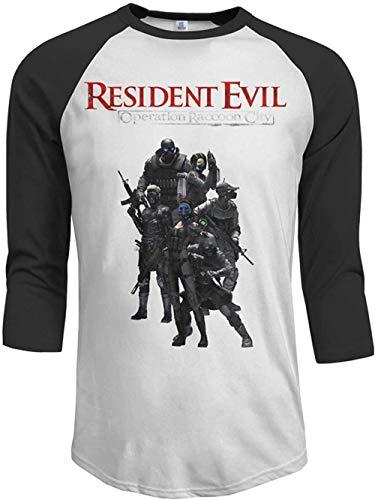 Resident Evil Operation Raccoon City Men's 3/4 Sleeve Raglan Baseball T-Shirt Black,Black,Large