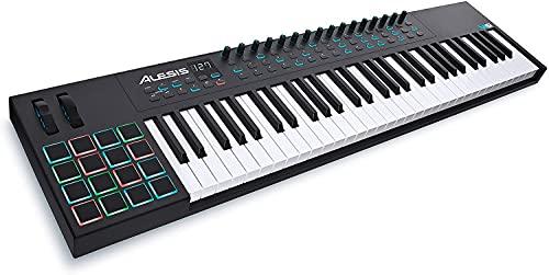 Alesis VI61 – 61-toetsen USB MIDI keyboard controller met 16 pads, 16 toewijsbare knobs, 48 buttons en 5-pins MIDI…