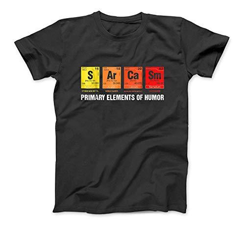 Wissenschafts-T-Shirt Sarkasmus S Ar Ca Sm Primary Elements of Humor SweatshirtHoodie Tank Top für Männer Frauen Kinder