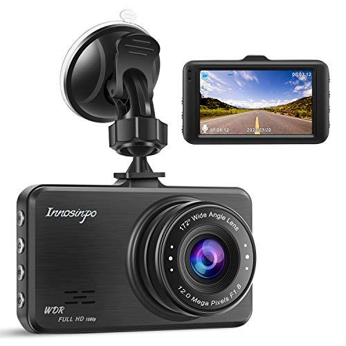 Dashcam FHD 1080P KFZ-Kamera Dashcam für Autos, 170° Weitwinkel, 7,6 cm (3 Zoll) LCD-Bildschirm, WDR Loop-Aufnahme, G-Sensor, Bewegungserkennung, Parkmonitor