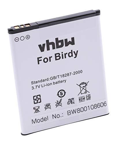 vhbw Li-Ion Akku 2100mAh (3.8V) für Handy Smartphone Handy Wiko 9261, Birdy, Birdy 4G, Freddy