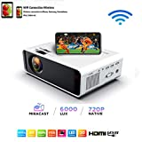 SOTEFE® Mini LED Projector Portable 6000 Lumens-WiFi Video Projectors 1080P Full HD For